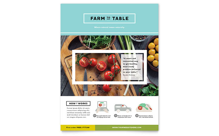 Organic Food Flyer Template - Word & Publisher