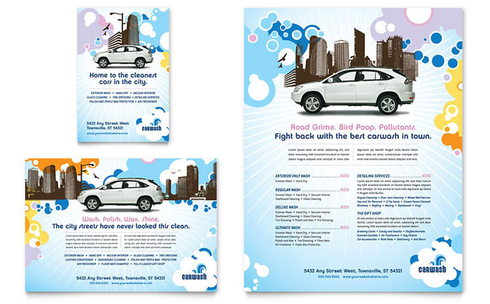 Car Wash Flyer & Ad - Word Template & Publisher Template