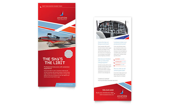 Aviation Flight Instructor Rack Card Template - Word & Publisher