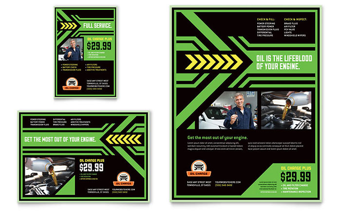 Oil Change Flyer & Ad Template - Word & Publisher