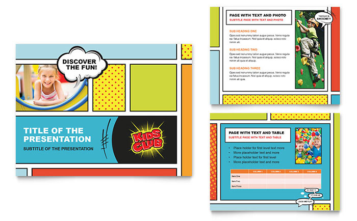 Kids Club PowerPoint Presentation Template - PowerPoint