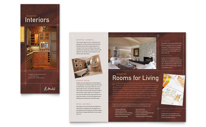 Home Remodeling Tri Fold Brochure Template Word Amp Publisher
