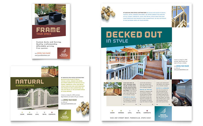 Decks Amp Fencing Flyer Amp Ad Template Word Amp Publisher