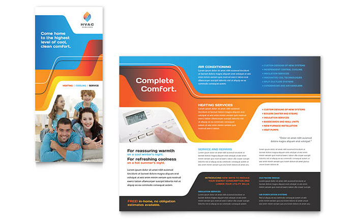 Hvac brochure template word publisher for Product brochure template word