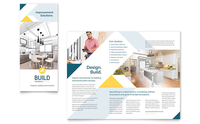 Contractor Brochure Template - Word & Publisher