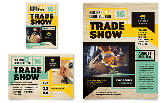 Builder S Trade Show Flyer Amp Ad Template Word Amp Publisher