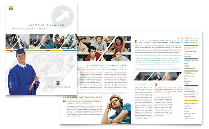 College & University Brochure Template - Word & Publisher