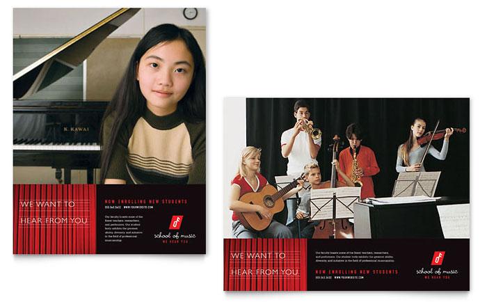 music school poster template