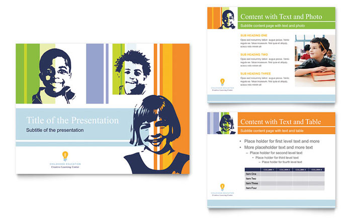 Learning Center & Elementary School PowerPoint Presentation Template - PowerPoint