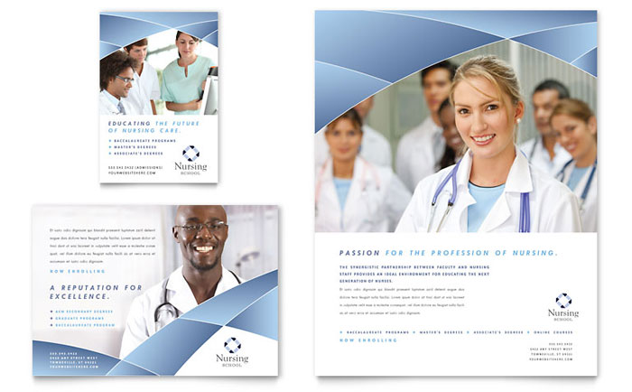 Nursing School Hospital Flyer & Ad Template - Word & Publisher