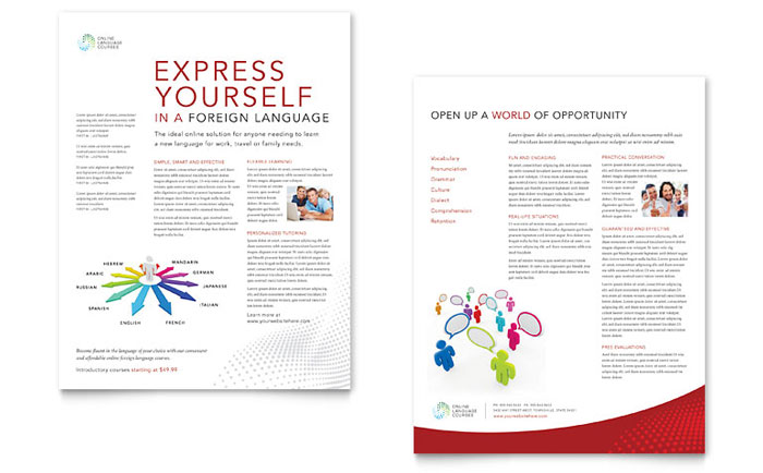 International - Sales Sheet Templates - Word & Publisher