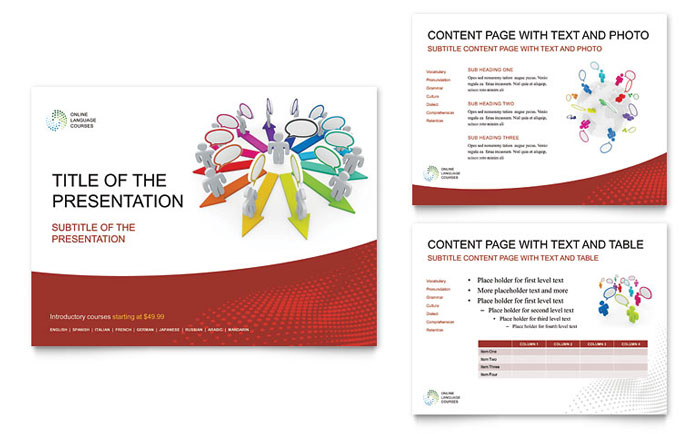 Language Learning PowerPoint Presentation Template - PowerPoint
