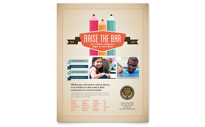 Tutoring School Flyer Template - Word & Publisher