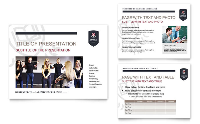 High School PowerPoint Presentation Template - PowerPoint