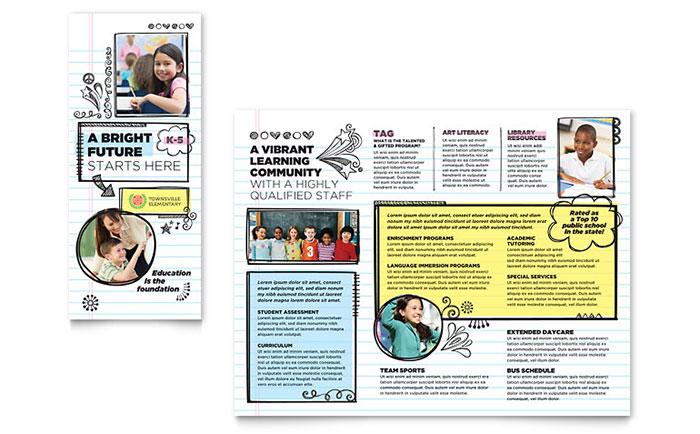 elementary school brochure template