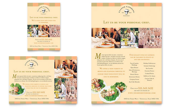 Catering Company Flyer & Ad - Word Template & Publisher Template