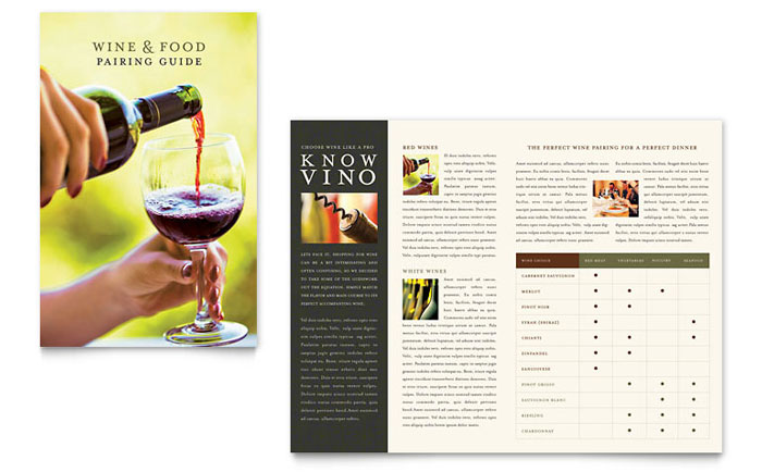 Vineyard & Winery Brochure Template - Word & Publisher