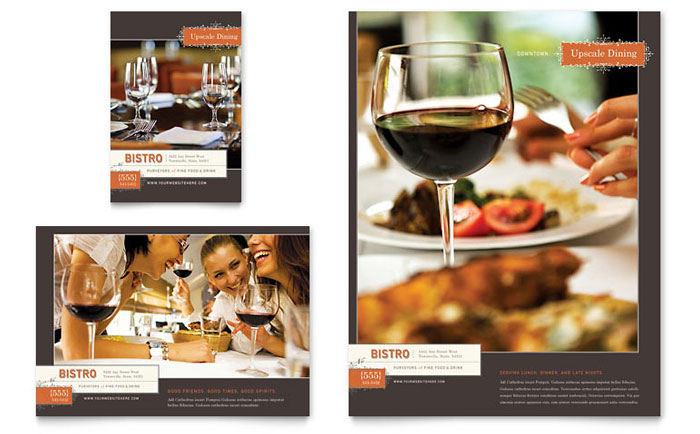 Bistro & Bar Flyer & Ad Template - Word & Publisher