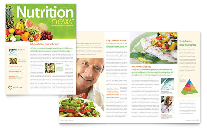 Nutritionist Amp Dietitian Newsletter Template Word Amp Publisher