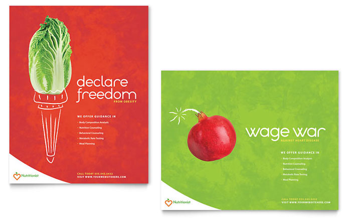 Nutritionist & Dietitian Poster Template - Word & Publisher