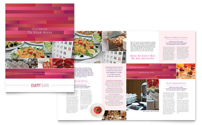 Corporate Event Planner & Caterer Brochure Template - Word & Publisher
