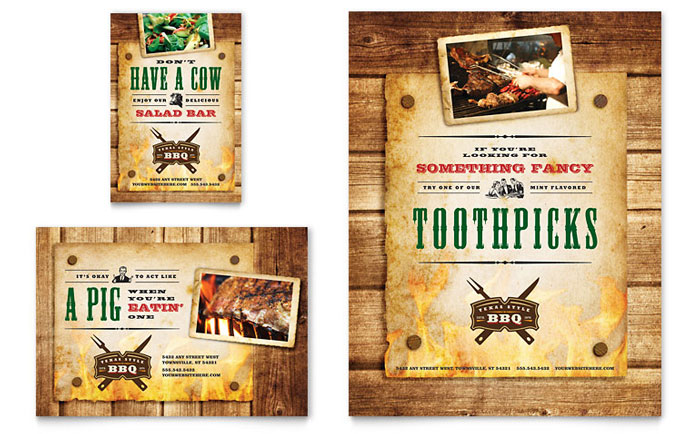 Barbeque Restaurant Flyer Templates Word and Publisher – Restaurant Flyers Templates