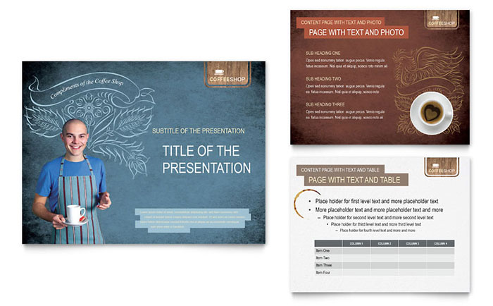 Coffee Shop PowerPoint Presentation Template - PowerPoint