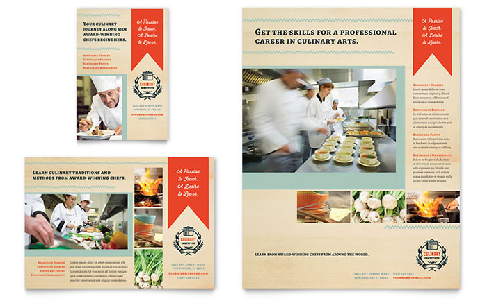 Culinary School Flyer & Ad Template - Word & Publisher