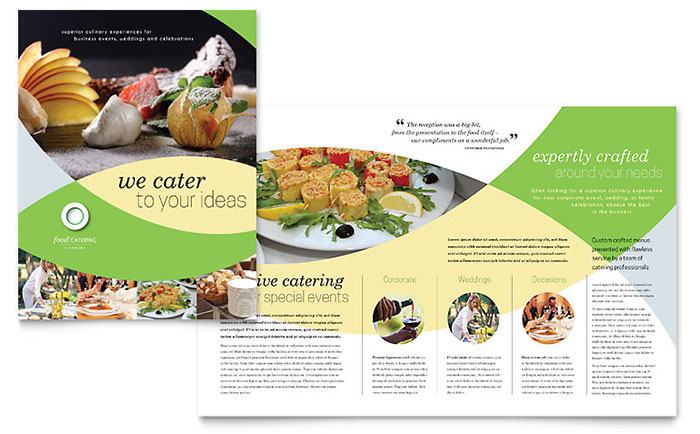 Food Catering Brochure Template - Word & Publisher