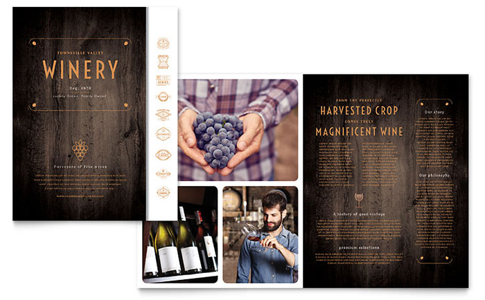 Winery Brochure Template - Word & Publisher