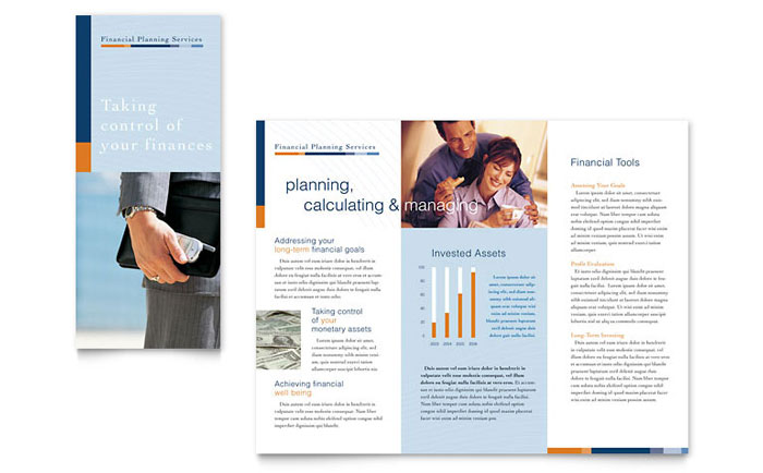 Financial Planning & Consulting Brochure Template - Word & Publisher
