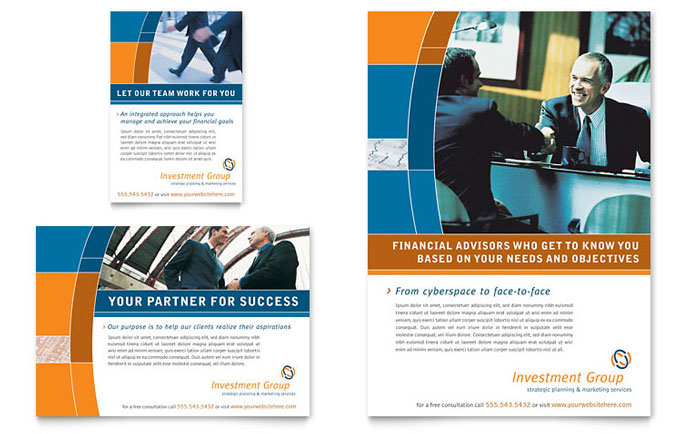 Investment Services Flyer & Ad Template - Word & Publisher
