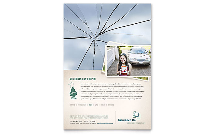 Life Insurance Company Flyer Template - Word & Publisher