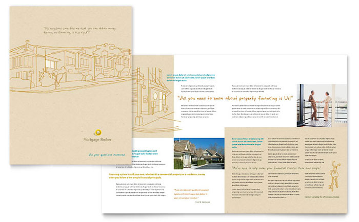 Mortgage Broker Brochure Template - Word & Publisher