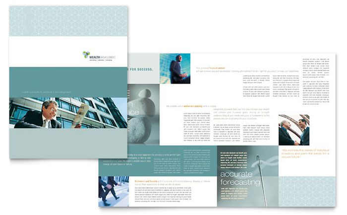 Wealth Management Services Brochure Template - Word & Publisher