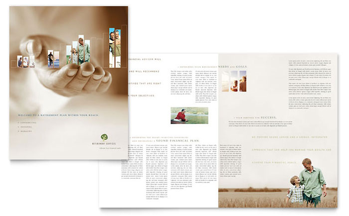 Retirement Investment Services Brochure Template - Word & Publisher