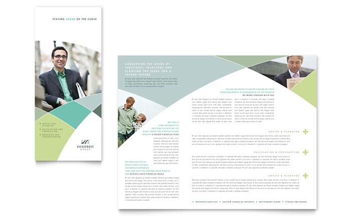 Beautiful Non Profit A4 Bi Fold Brochure Template