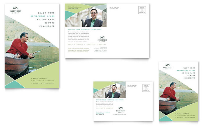 Financial Advisor Postcard Template - Word & Publisher