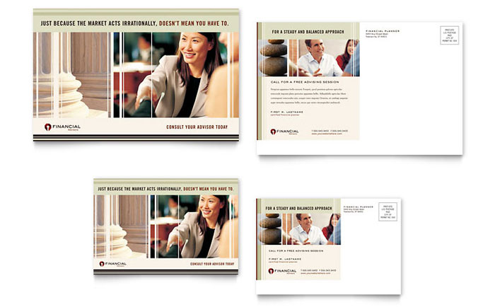 Financial Planner Postcard Template - Word & Publisher