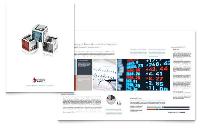 Investment Bank Brochure Template - Word & Publisher