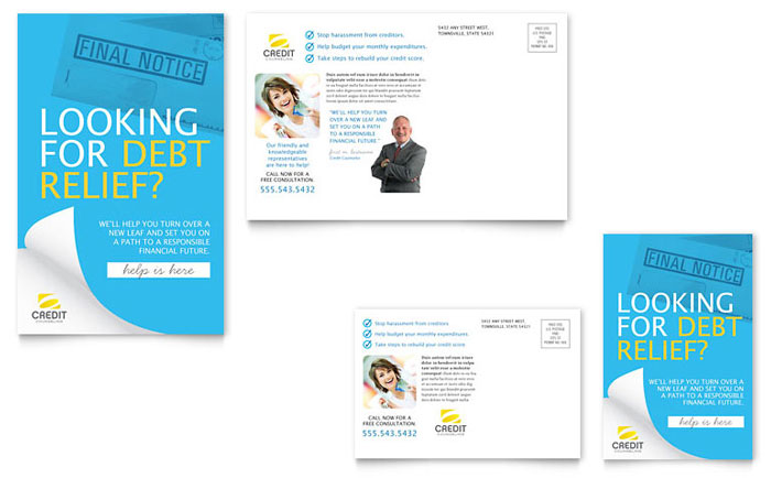 Consumer Credit Counseling Postcard Template - Word & Publisher