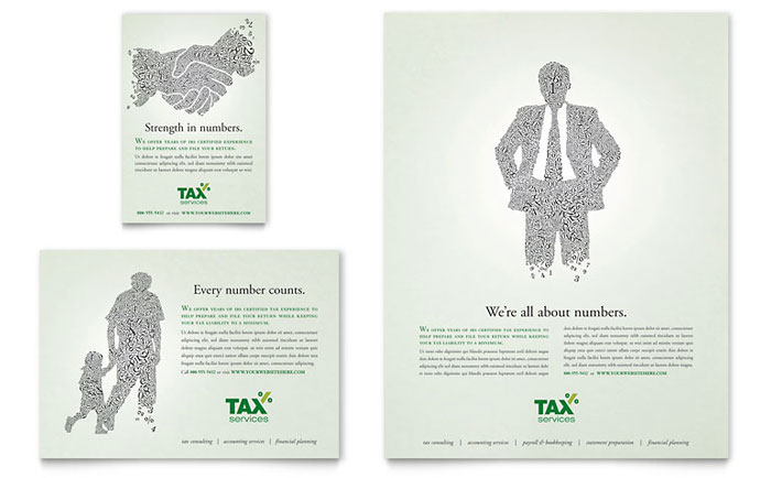 Accounting & Tax Services Flyer & Ad Template - Word & Publisher