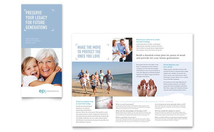 estate planning tri fold brochure template word publisher. Black Bedroom Furniture Sets. Home Design Ideas