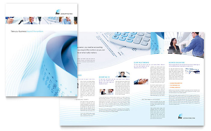 Accounting firm brochure template word publisher for Free bookkeeping brochure templates
