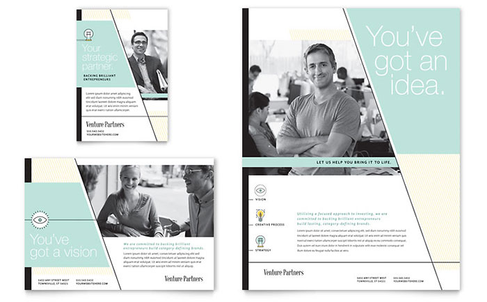 Venture Capital Firm Flyer & Ad Template - Word & Publisher