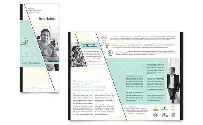 Venture Capital Firm Tri Fold Brochure Template - Word & Publisher