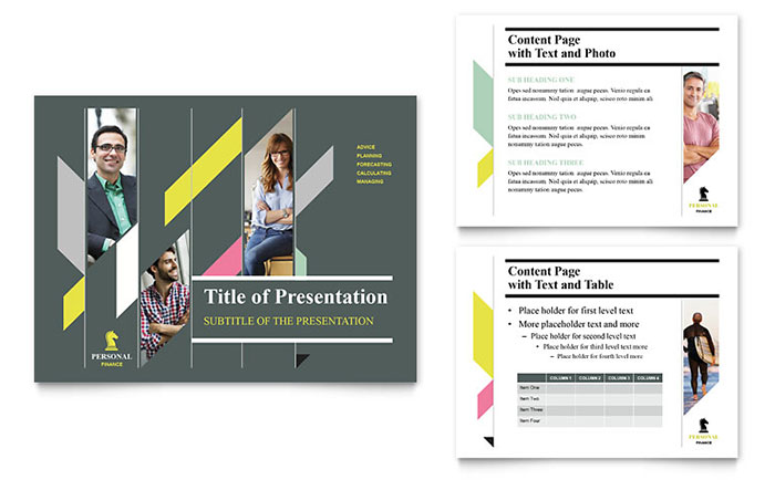 Personal Finance PowerPoint Presentation Template - PowerPoint