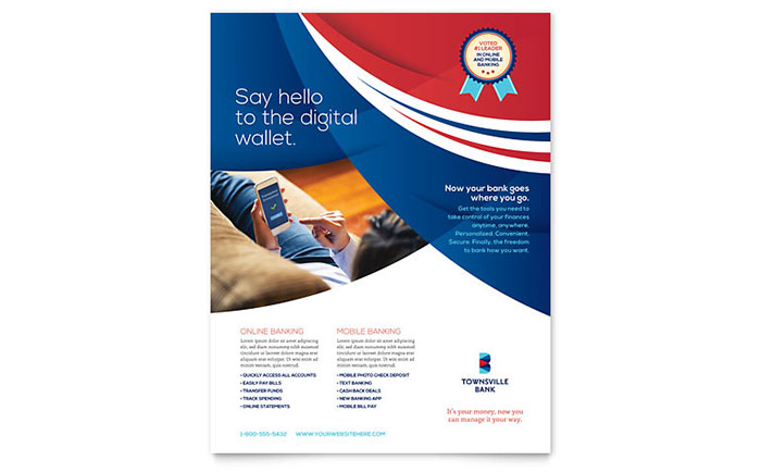 microsoft publisher brochure templates free - bank flyer template word publisher