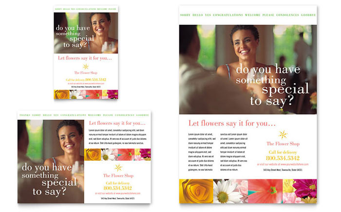 Florist Shop Flyer & Ad Template - Word & Publisher