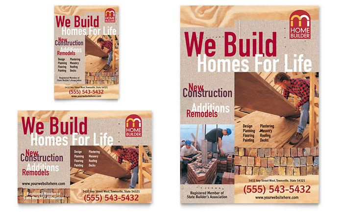 Home Builder & Contractor Flyer & Ad Template - Word & Publisher